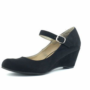 American Rag Meesha Black Mary Jane Heels Size 8